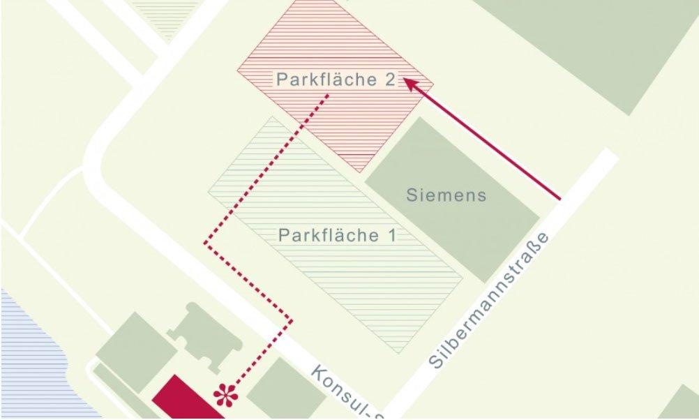 Skizze die die Anfahrt zum Büro von DWPARTNER in Bremen zeigt